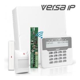 VERSA IP RF pakket met wit draadloos LCD, RF module, draadloos magneetcontact en detector