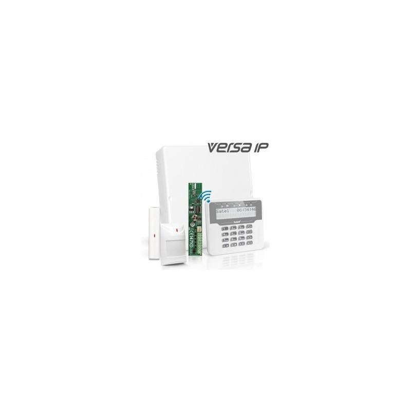 VERSA IP RF pakket met wit dxraadloos LCD, RF module, draadloos magneetcontact en detector