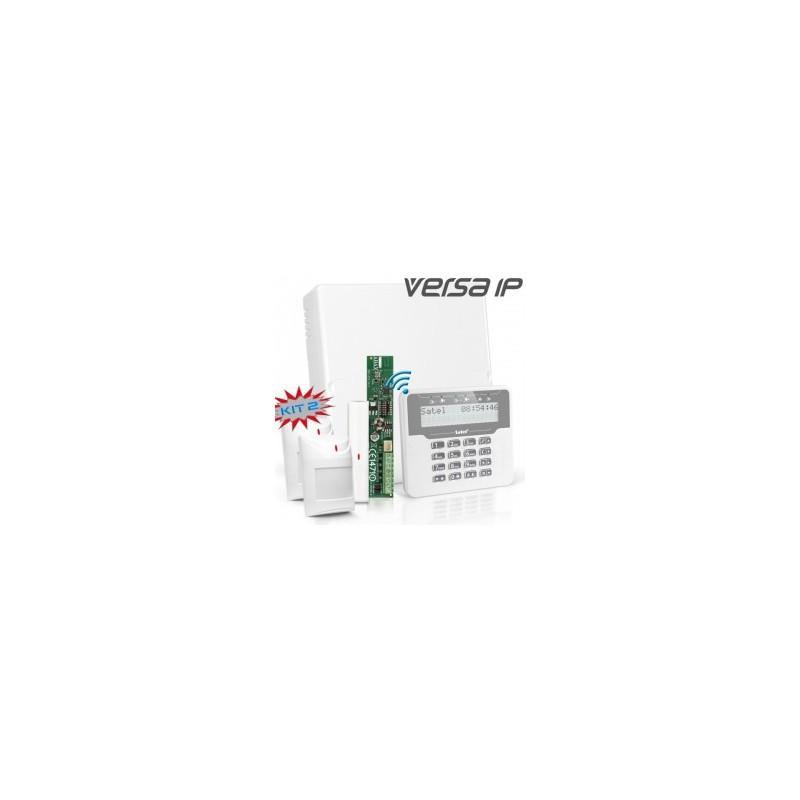 VERSA IP RF pakket met wit dxraadloos LCD, RF module, draadloos magneetcontact en 2x detector