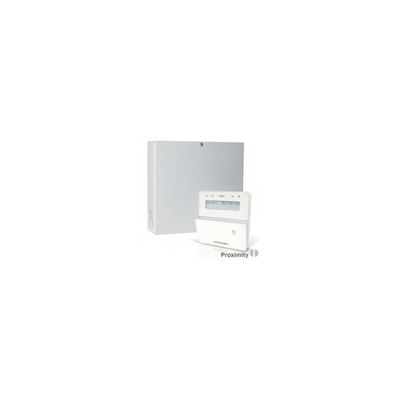 InteGra 64 PLUS pakket met wit prox LCD bediendeel