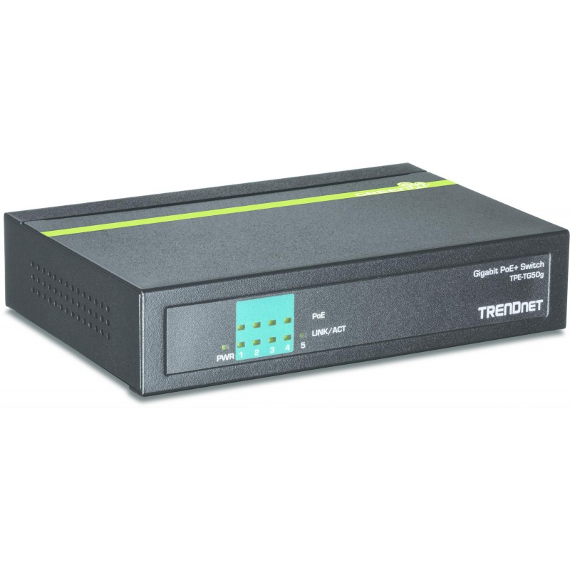 TPE-TG50g 5-Poorts Gigabit PoE+ Switch - TRENDnet