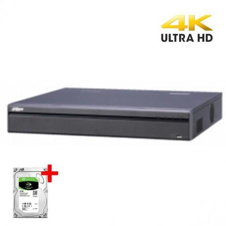 Dahua NVR5432-16PoE-4KS2E ePoE 32-kanaals NVR incl. 4TB opslag