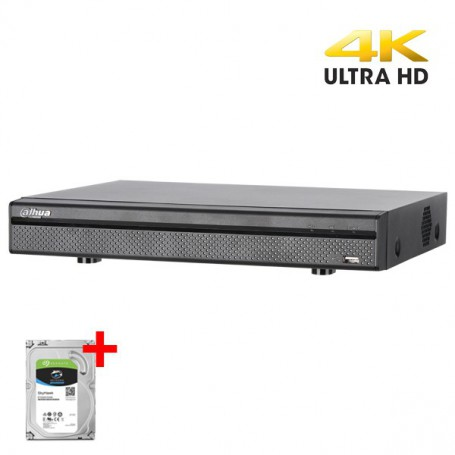 Dahua XVR5108H-4KL-8PoC incl. 2TB Harddisk, 8 kanalen CVI/TVI/AHD, Analoog en IP