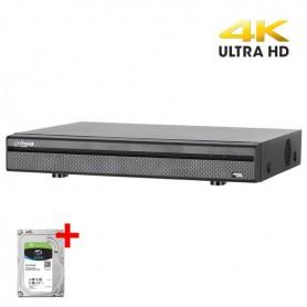 Dahua XVR5108H-4KL-X-PoC 8-kanaals recorder incl. 2TB Harddisk