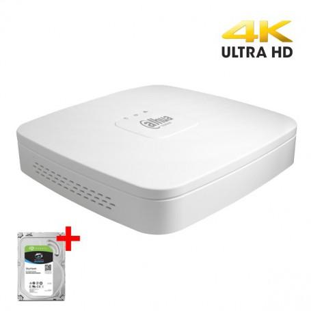 Dahua XVR5104C-4KL-X incl. 1TB harddisk, CVI/TVI/AHD/Analoog en IP