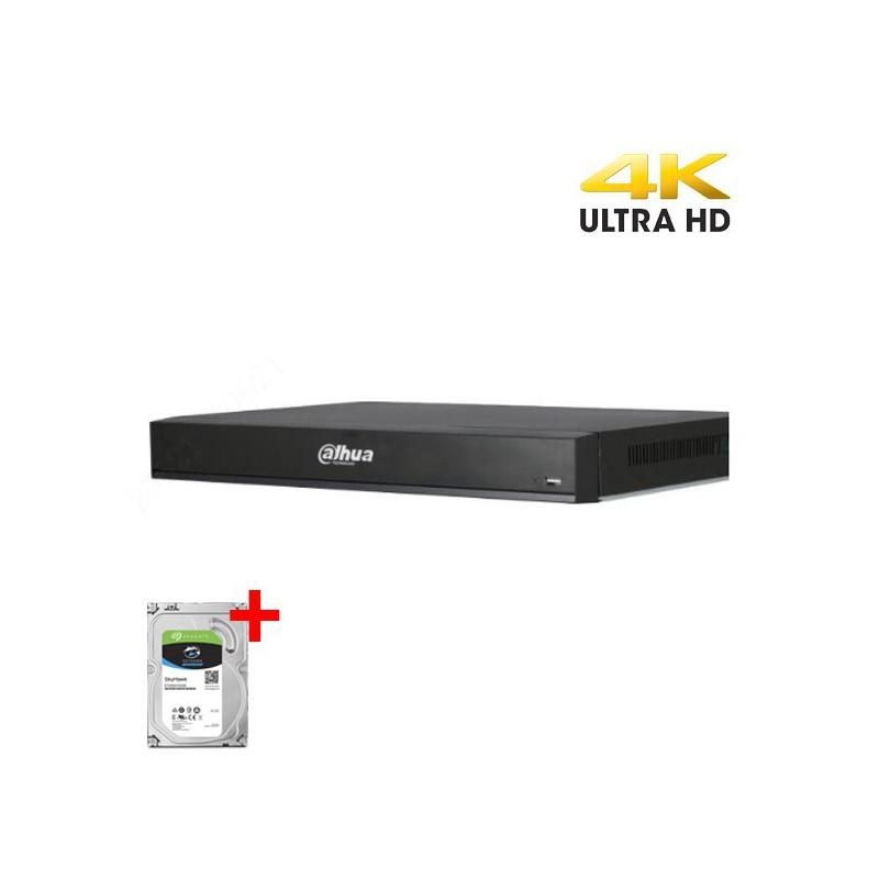 Dahua XVR7104HE-4KL-X incl. 1TB harddisk, 4 kanalen CVI/TVI/AHD, Analoog en IP
