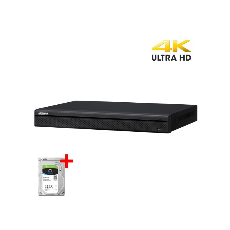 Dahua XVR5216AN-4KL-X incl. 4TB harddisk, 16 kanalen CVI/TVI/AHD, Analoog en IP
