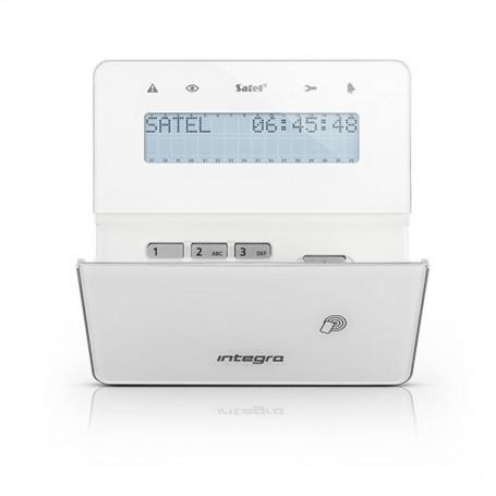 Satel INT-KWRL-BSB wit draadloos LCD proximity bediendeel voor InteGra alarmsystemen