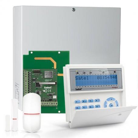 InteGra 32 RF pakket met blauw PROX LCD bediendeel, RF module, magneetcontact en bewegingsmelder