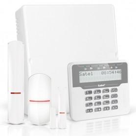 VERSA IP RF pakket met wit LCD, RF module, draadloos magneetcontact en detector