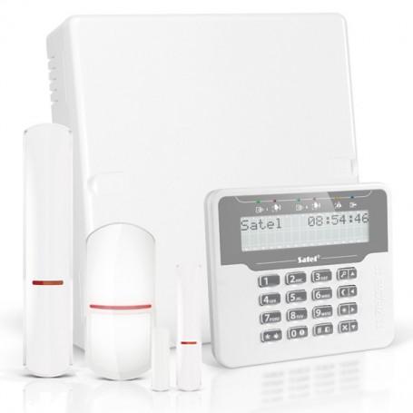 VERSA PLUS RF pakket met wit LCD, RF module, draadloos magneetcontact en detector