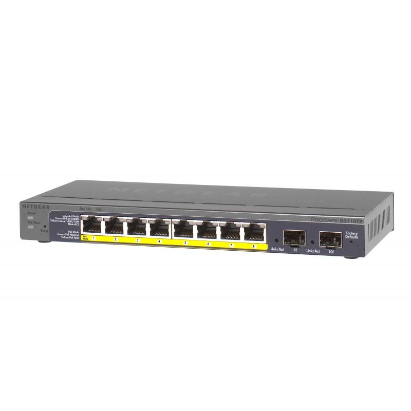 Netgear - GS110TP-200EUS 8-Poorts Gigabit PoE switch
