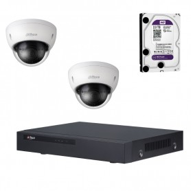 Dahua full hd set met NVR en 2x dome 3mp